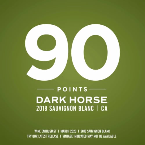 Dark Horse Sauvignon Blanc White Wine Perspective: left
