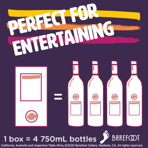 Barefoot Cellars On Tap Cabernet Sauvignon Red Wine 3L Box Wine Perspective: left