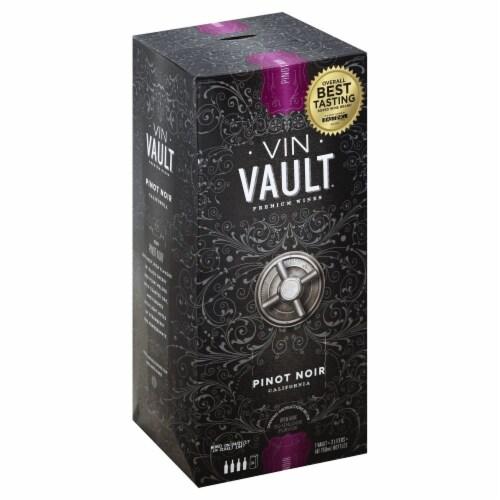 Vin Vault Pinot Noir Red Box Wine Perspective: left