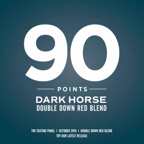 Dark Horse Double Down Red Blend Red Wine Perspective: left