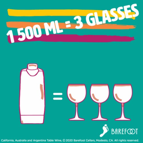 Barefoot-To-Go Moscato White Wine Perspective: left