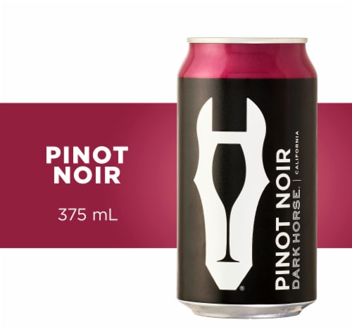 Dark Horse Pinot Noir Red Wine Can Perspective: left
