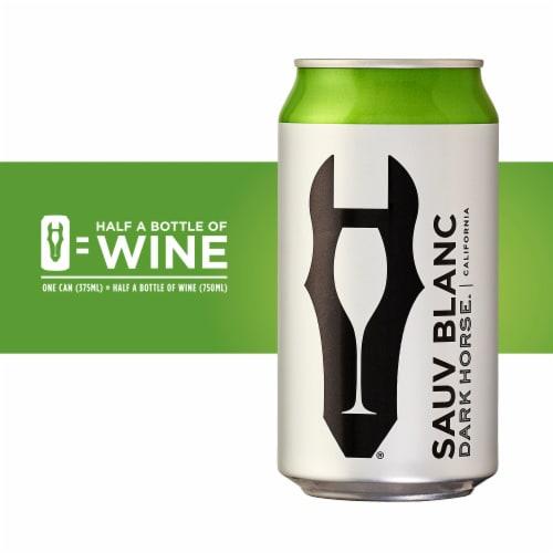 Dark Horse Sauvignon Blanc White Wine Can Perspective: left