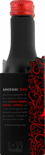 Apothic Red Blend Red Wine 2 pack of 250ml Aluminum Bottles Perspective: left