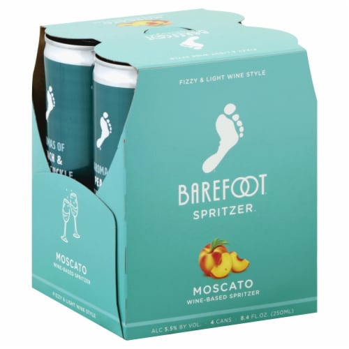 Barefoot Spritzer Moscato White Wine Perspective: left