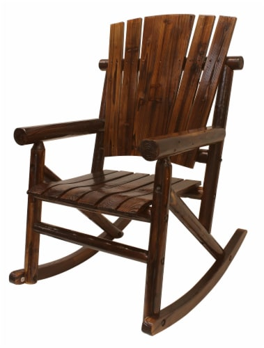 Leigh Country Char-log Single Rocker - Brown Perspective: left