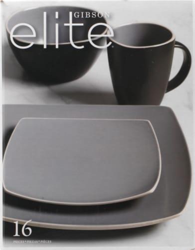 Gibson Home Soho Lounge Matte Dinnerware Set Perspective: left