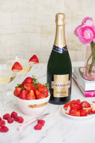 Chandon California Brut Sparkling Wine Perspective: left