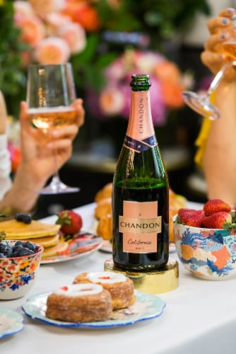 Chandon California Rose Sparkling Wine Perspective: left