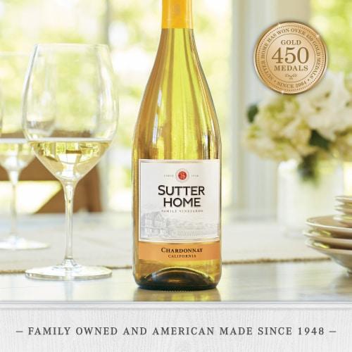 Sutter Home® Chardonnay White Wine 750mL Wine Bottle Perspective: left