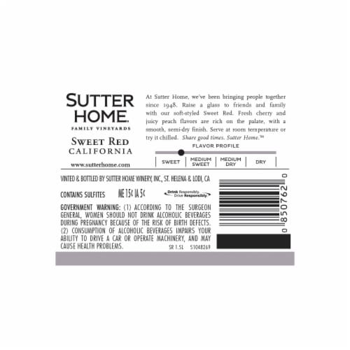 Sutter Home® Sweet Red Wine Perspective: left