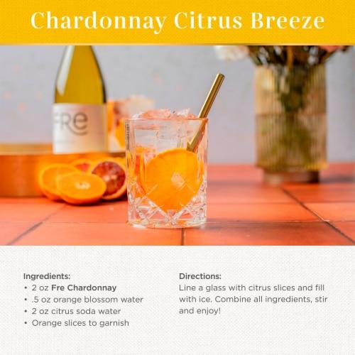 FRE Chardonnay 750ml Wine Bottle Perspective: left
