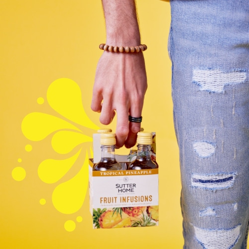 Sutter Home® Fruit Infusions Tropical Pineapple White Wine Perspective: left