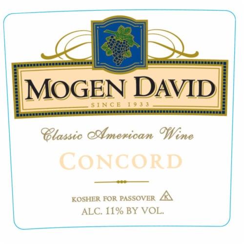 Mogen David Concord Red Wine Perspective: left