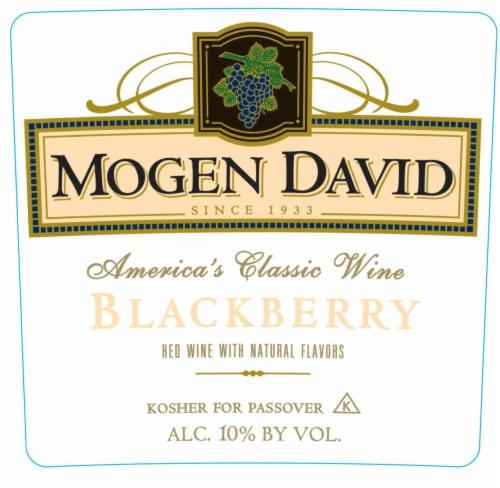 Mogen David Blackberry Wine Perspective: left