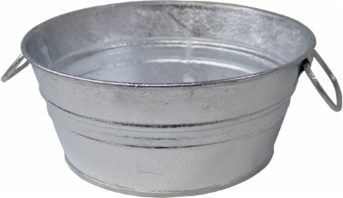 Behrens Hot Dipped Steel Mini Tub - Silver Perspective: left