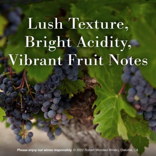 Robert Mondavi Winery Napa Cabernet Sauvignon Red Wine Perspective: left