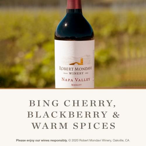 Robert Mondavi Winery Merlot Red Wine Perspective: left