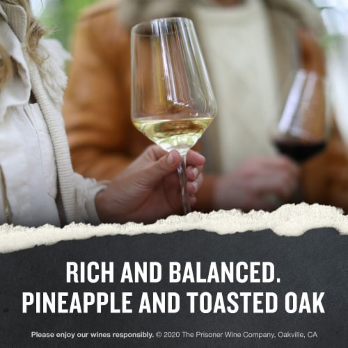 The Prisoner Wine Co. Napa Valley Chardonnay White Wine Perspective: left