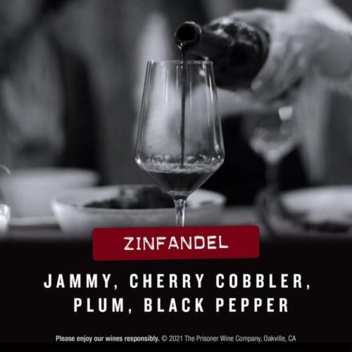 The Prisoner Wine Company Saldo Zinfandel Red Wine Perspective: left