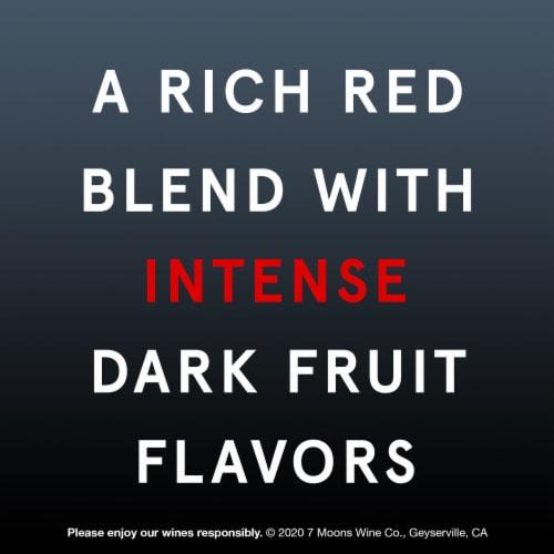 7 Moons Dark Side Red Blend Bottle Wine Perspective: left