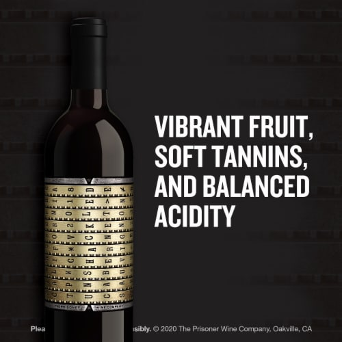 The Prisoner Wine Company Unshackled Cabernet Sauvignon Red Wine Perspective: left