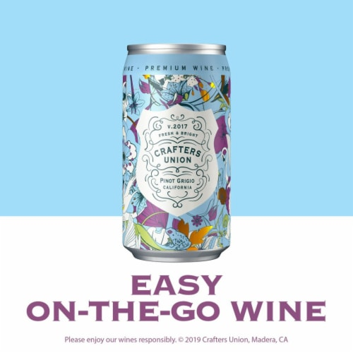Crafters Union Pinot Grigio Canned White Wine Perspective: left
