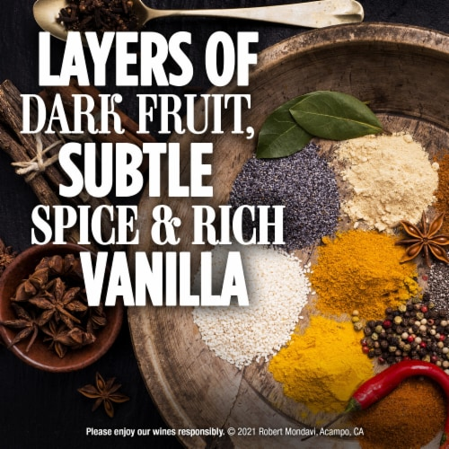 Robert Mondavi Private Selection Rum Barrel Aged Merlot Red Wine Perspective: left