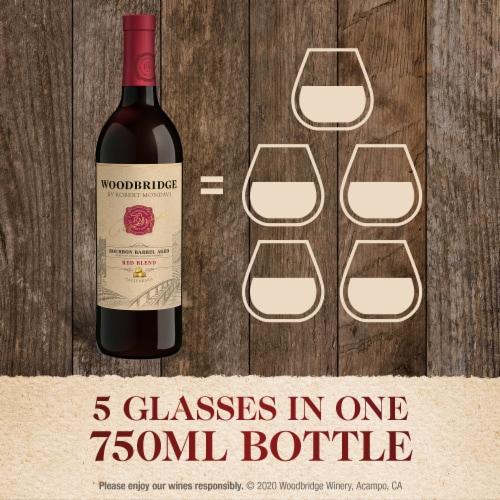 Woodbridge by Robert Mondavi Bourbon Barrel Aged Red Blend Wine Perspective: left