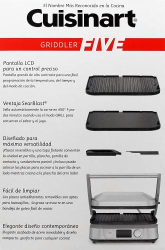 Cuisinart Griddler FIVE - Silver/Black Perspective: left