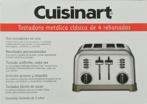 Cuisinart 4 Slice Classic Metal Toaster - Chrome Perspective: left