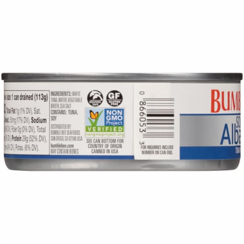 Bumble Bee Solid White Albacore Tuna in Water Perspective: left