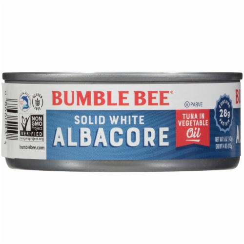 Bumble Bee Solid White Albacore Tuna in Vegetable Oil Perspective: left