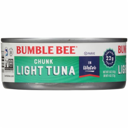 Bumble Bee Chunk Light Tuna in Water Perspective: left