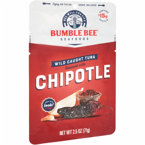 Bumble Bee Chipotle Seasoned Wild Caught Tuna Perspective: left