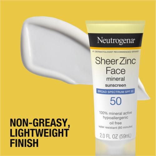 Neutrogena Sheer Zinc Face Dry-Touch Sunscreen SPF 50 Perspective: left