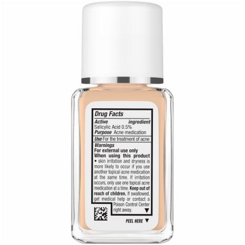 Neutrogena SkinClearing 105 Caramel Blemish Treatment Oil-Free Liquid Makeup Perspective: left