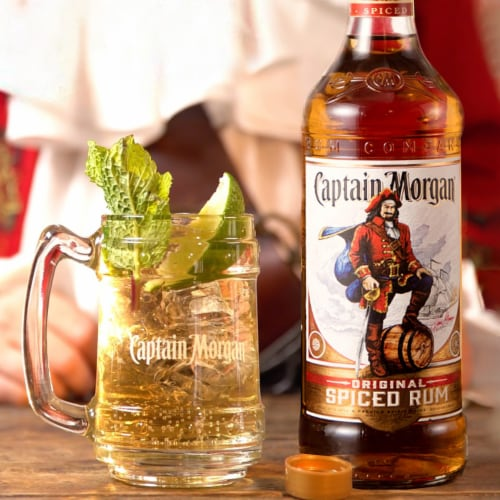 Captain Morgan Original Spiced Rum Perspective: left
