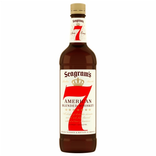 Seagram's 7 Crown American Blended Whiskey Perspective: left