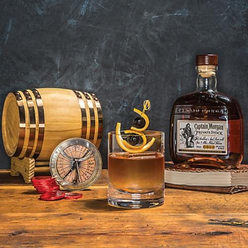 Captain Morgan Premium Barrel Private Stock Rum Perspective: left