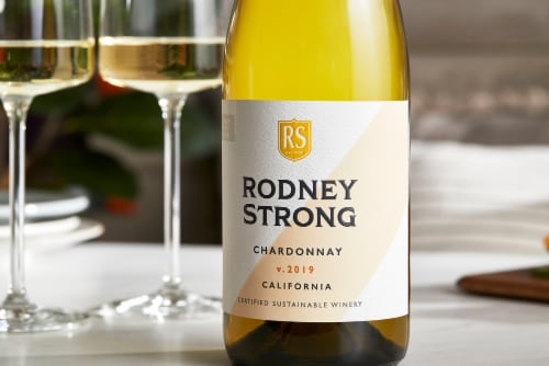 Rodney Strong Chardonnay White Wine Perspective: left
