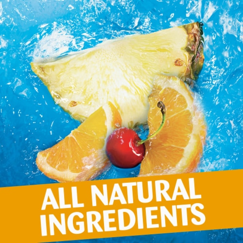Capri Sun Roarin' Waters Tropical Tide Flavored Water Beverage Pouches Perspective: left