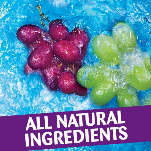 Capri Sun Roarin' Waters Grape Geyser Flavored Water Beverage Pouches Perspective: left