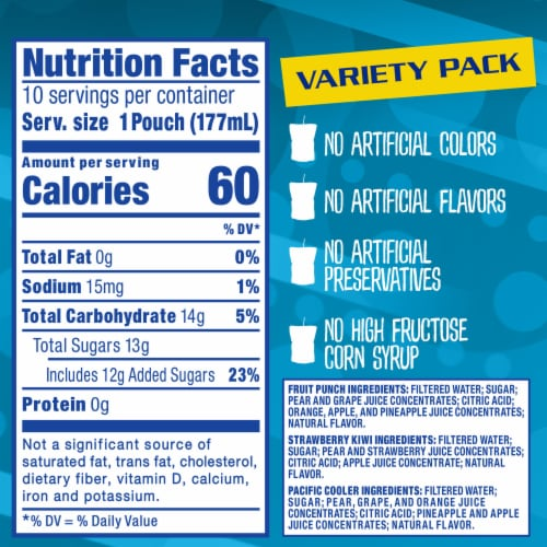 Capri Sun Juice Drink Blend Pouch Variety Pack Perspective: left