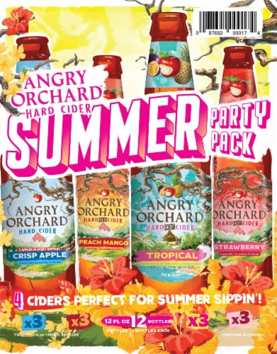Angry Orchard Harvest Mix Hard Cider Variety Pack Perspective: left