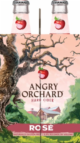 Angry Orchard Rose Hard Cider Perspective: left