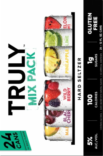 Truly Hard Seltzer Variety Pack Perspective: left