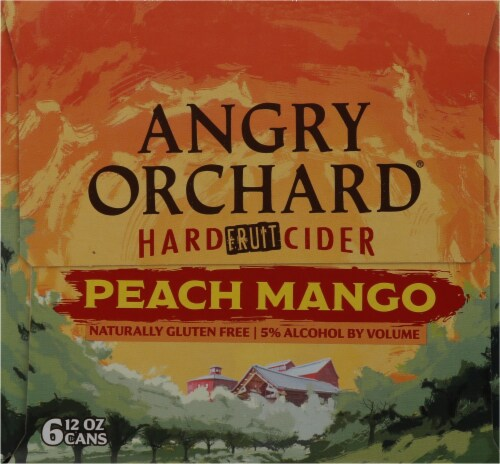 Angry Orchard Hard Fruit Cider - Peach Mango Perspective: left