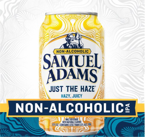 Samuel Adams Just the Haze Non-Alcoholic IPA Perspective: left