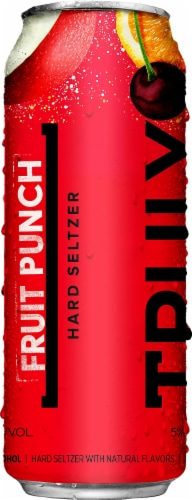 Truly Fruit Punch Hard Seltzer Perspective: left